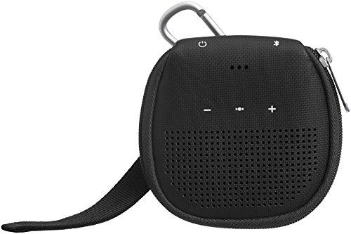 AmazonBasics - Custodia per altoparlante Bluetooth Bose SoundLink Micro, con supporto, colore: nero