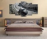 QMCVCDD 5 Piezas De Pared Fotos Cuadros En Lienzo Toyota Supra A90 2020 Coche HD Imprimir Modern Artwork Decoración De Arte De Pared Living Room 5 Piezas Artística Cuadros