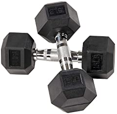 Dumbbells are widely used in gyms and homes for various exercise purposes, a great tool for either full body workout, or specific muscle groups High quality solid cast dumbbell encased in rubber, dumbbells will last throughout the years while protect...