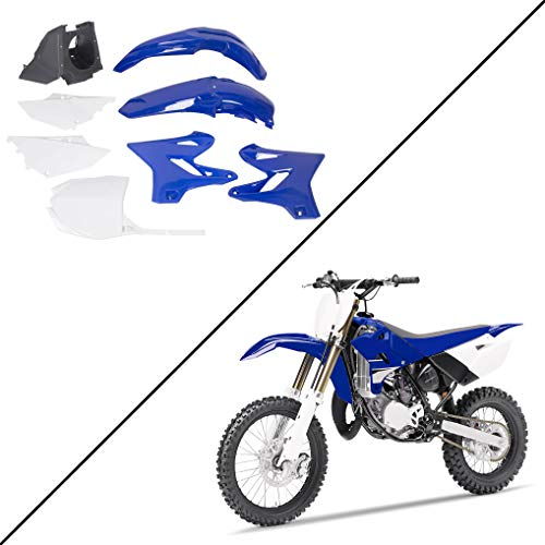 ECOTRIC Restyle Complete Plastic Kit Set Compatible With 2002-2014 Yamaha YZ125 YZ250 - Blue