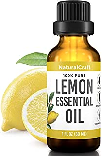 100% Pure Lemon Essential Oil - For Skin Mood Respiratory Aromatherapy - Undiluted Steam Distilled