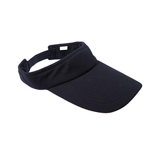 VORCOOL Sport Visor Cap Unisex Kappe UV Schutz Einstellbar für Sommer Tennis Golf Radfahren Angeln Laufen Jogging (Schwarz)