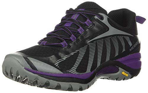 Merrell womens Siren Edge 3 Hiking Shoe, Black/Acai, 7 Wide US