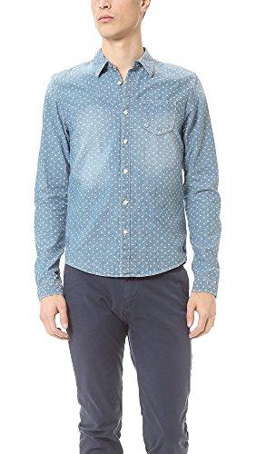 Chemise à manches longues John Printed Chambray Button Down Dessin E Scotch&Soda M Homme