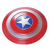 Escudo del Capitán América Shield Cosplay Props Soldier Halloween 75th Anniversary Metal Retro Handheld Creativo Colgante de Pared 35cm para Adultos y niños Juego de Roles Juguete