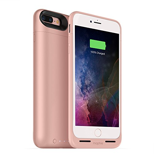 mophie juice pack wireless - Charge Force Wireless Power - Wireless Charging Protective Battery Pack Case for Apple iPhone 8 Plus and 7 Plus - Rose Gold