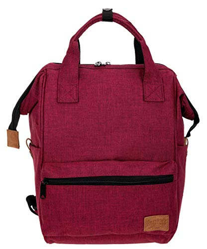 New Rebels Rucksack Heaven Handtasche Damen Bürorucksack Freizeitrucksack backpack + Etui (Red (Rot 24))
