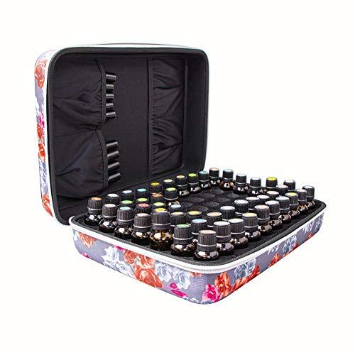 Opfury ätherische Öle Aufbewahrungskoffer Hartschaliger Reisekoffer für 7o-Grid Aufbewahrungsbeutel aufbewahrungsbox Reisen Tasche Nagellack Kulturbeutel für Ätherische Öle
