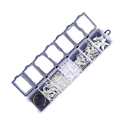 yuj Kit de Pulsera Kit de Collar de Cuentas Juego de Accesorios para Pendientes Ganchos para la Espalda Aros Dijes de Mariposa Anillos de Salto Herramientas para Hacer Suministros Kit de