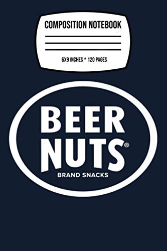 Composition Notebook: Beer Nuts Classic White Logo . Graphic Gym 120 Wide Lined Pages - 6