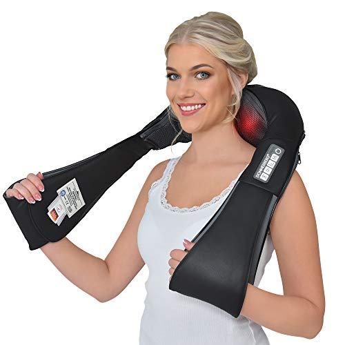 Donnerberg draadloos nekmassageapparaat HET ORIGINEEL München met oplaadbare SAMSUNG batterij Shiatsu 4D diep weefsel massage met trilfunctie voor schouders nek in de auto op kantoor op reis