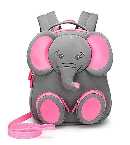 Mochila con diseño de animales para niños pequeños y niñas, mochila escolar con correa perdida, para 1 – 3 años, Meilo