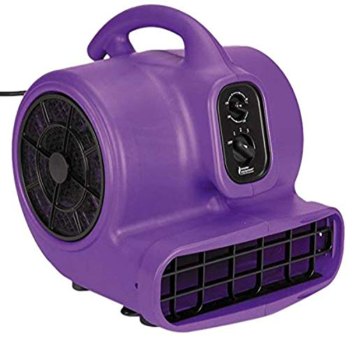 Master Equipment PetEdge Blue Force Air Dryer with Cage – Quiet Pet Fur Dryer Offers 3 Speeds Up to 2,000 CFM, 0.33 HP