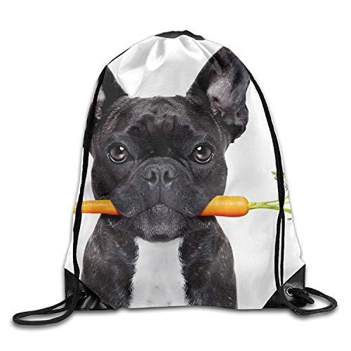 New Shorts Dog Eat Radish Pulling-knapsack Backpack Sport Gym Sack Drawstring Backpack Bag