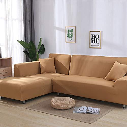 NEWRX Cubierta geométrica de sofá Cubierta de algodón Cubierta de sofá Sofá elástica Cubiertas para la Sala de Estar Pedido 2 Piezas Si es l con Forma de sofá Longue de Chaise