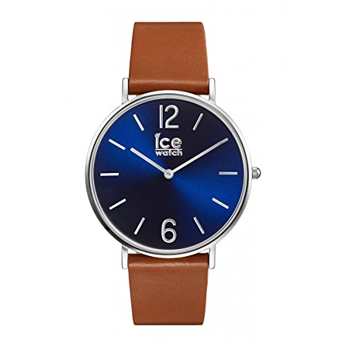 Ice-Watch - CITY tanner Caramel Blue - Montre marron mixte avec bracelet en cuir...