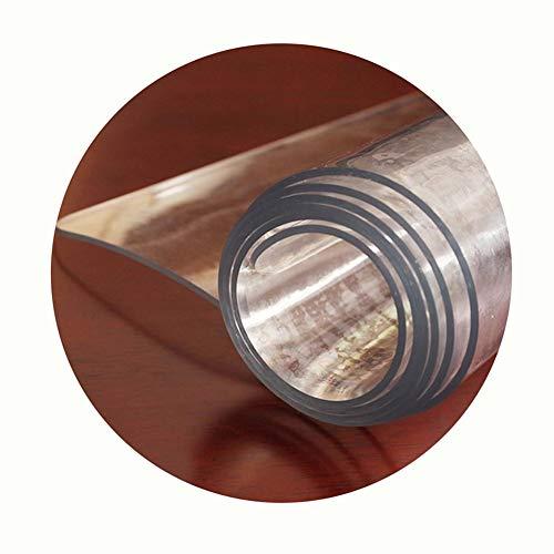 NINGWXQ Vloerbeschermende Matten Waterbestendig Kan Worden Gesneden Helder Tafelkleed 1,5 Mm Dik, Vloermatten for Kantoor Plastic Placemats Pad, Aanpasbaar (Color : Clear-1.5mm, Size : 60x140cm)