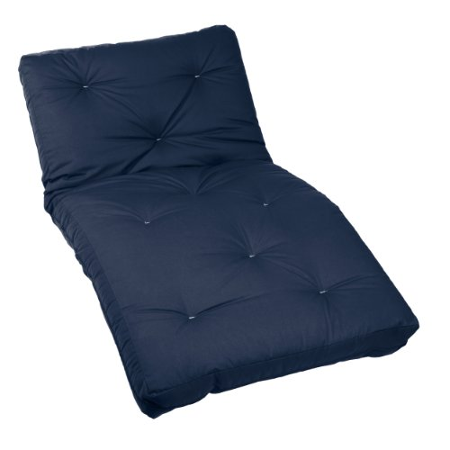 Mozaic Twin Size 5-inch Cotton Twill Futon Mattress, Navy