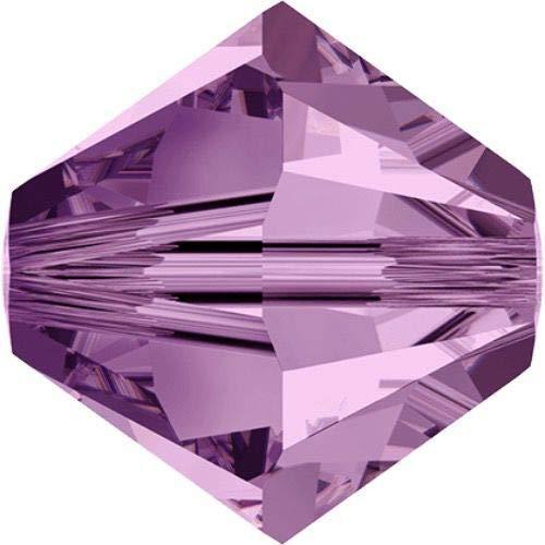 24pcs Light Amethyst 212 Xilion Bicono in Vetro Cristalli Viola 5328 Perlina Sfaccettata Strass 6mm