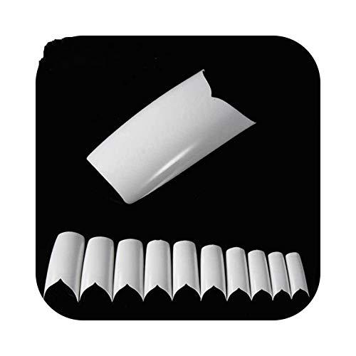 Art faux ongles 500PCS CONSEILS OVAL NAIL COUVERT PLEIN ACRYLIQUE FAUX CONSEILS ART NAIL VIN COULEUR ROUGE-15-