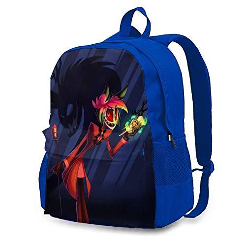 Childrens School Bag Hazbin Hotel Z Bookbag Outdoors Rucksack Casual Backpack for Men/Women/Teen Girls Blue 145526428