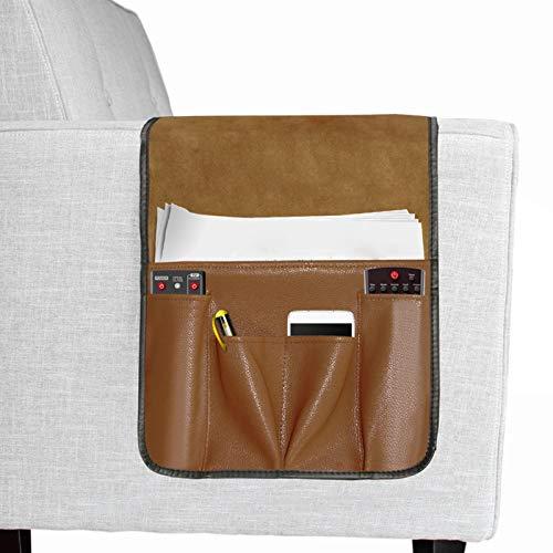 palatable Organizador para reposabrazos de sofá, silla, armario de mesa con 7 bolsillos, sillón, cajón, bolsa de ahorro para libros de teléfono