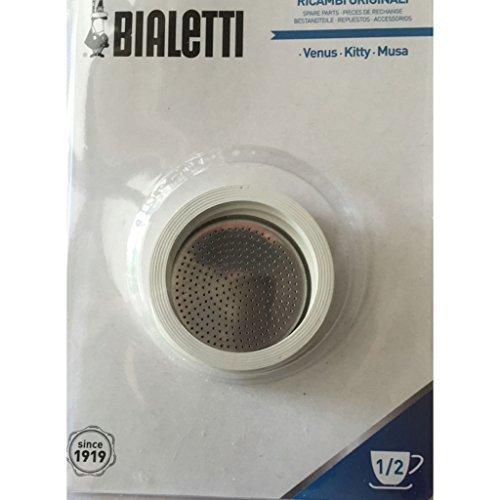 Bialetti - 3 juntas y 1 filtro para cafetera Kitty / Venus 1-2 TZ