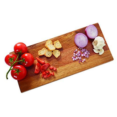 Sabatier Prep and Serve Acacia and White Stone Cutting Board, 8x18-Inch, Natural