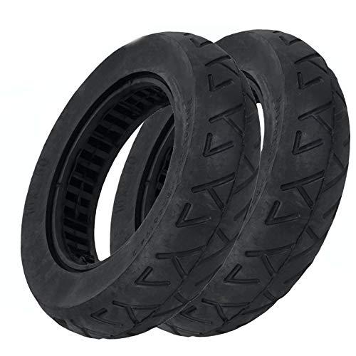 amalibay 2 neumáticos eléctrico de la Rueda de la Vespa, neumático sólido del monopatín Neumático de Goma Ruedas del neumático Rueda Maciza 10 * 2.0/2.5 para el monopatín eléctrico