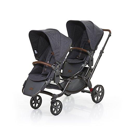 ABC Design Zoom–Kinderwagen/Kinderwagen Tandem, 2Sitz (S), blau, UMPC, Fixed, Drehring, 30kg)