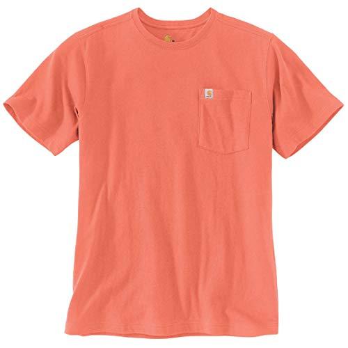 Carhartt . 104266.R27.S008 Southern Pocket T-Shirt à Manches Courtes pour Homme Rouge Argile Taille XXL