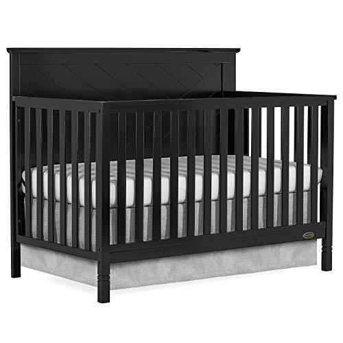 Dream On Me Skyline 5 In 1 Convertible Crib In Black