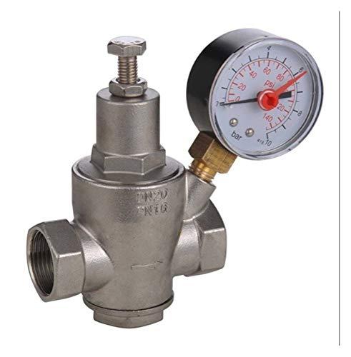 Das elektromagnetische Ventil 304 Edelstahl Wasserdruckminderer mit Manometer pressue DN15-DN50 Wasserdruckregler/Reduzierung/Entlastungsventile Industriebedarf (Specification : DN20)