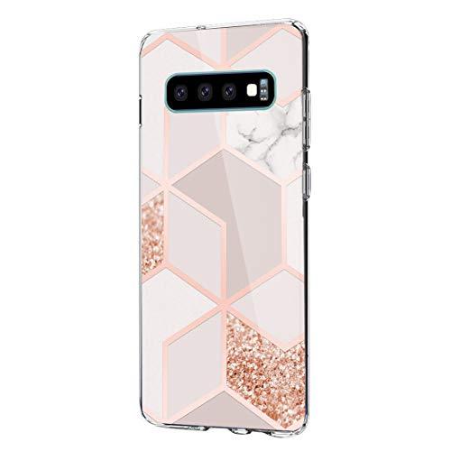 Compatibel met de Samsung Galaxy S10-hoes, Galaxy S10+ beschermhoes, zachte silicone, schokbestendige beschermhoes voor S10e telefoonhoesje, telefoonhoesje