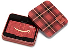 Gift Card is affixed inside a tin Gift amount may not be printed on Gift Cards Gift Card has no fees and no expiration date No returns and no refunds on Gift Cards Gift Card is redeemable towards millions of items storewide at Amazon.com Scan and red...