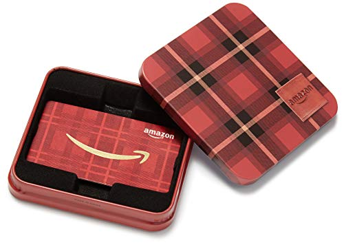 Amazon.com Gift Card in a Tartan Plaid Tin