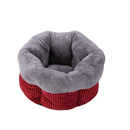 Huisdierbed dierenslaapzak kattenbed hondenbed warmer winter antislip warm wasbaar, pluche gevoerd zacht comfortabel, vierseizoenen universeel Large jujube