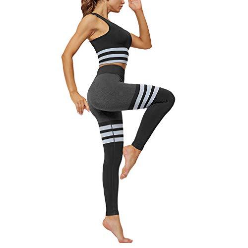 Yying Frauen Sport Active Wear Gym Yoga Fitness Workout Kleidung Legging Set Jogging Anzüge für Training Damen Sport BH Hosen