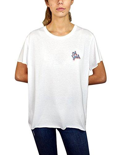 Joy Division JOYDIVISION Oh Yeah Tee T-Shirt, Bianco, Taglia Unica Donna
