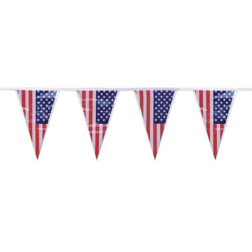 PARTY DISCOUNT NEU Wimpelkette USA-Fahne dreieckig, 4 m