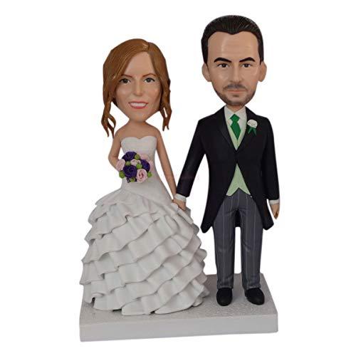 Nette Mini-Figuren Groupon Bobbleheads, die aussehen wie Sie Hochzeitstorte Topper Silhouette Miniatur Skulpturen personalisierte Geschenke
