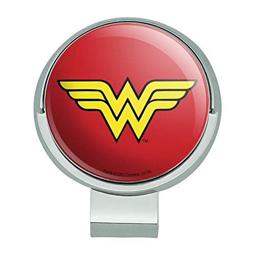 GRAPHICS & MORE Wonder Woman Classic Logo Golf Hat Clip with Magnetic Ball Marker