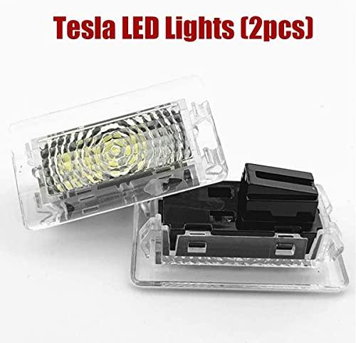 Led2 Piezas Para Tesla Kit Luces Repuesto Interiores Luz Led Coche Para La Parte Delantera Del Maletero Luz Interior Led Ultrabrillante Para Tesla Model Y Model 3 Model S Model X