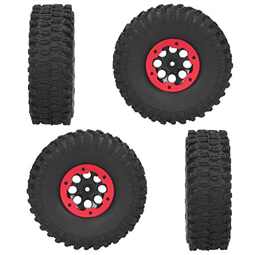 Dispositivo de protección para Coche 4 Piezas RC Racing Neumáticos 4 Piezas duraderas para SCX10 TRX4(Red)