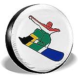 Not applicable Copricerchi per Ruota di scorta per Pneumatici da Snowboard Bandiera sudafricana,Adatto per autocarri Camper,16 Pollici