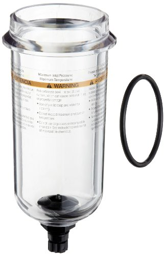 Parker PS832P Polycarbonate Bowl with Twist Drain for 07F, 12F, 07E Series Filter/Regulator, 7.2oz Capacity, 150 psig