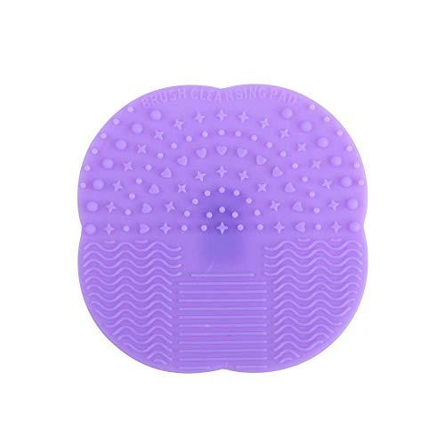 Silicone Makeup Brushes Cleaner Pads Couleur unie Cosmetic Brush Cleaner Tapis De Nettoyage Cosmétique Pad Scrubber Brush Outils De Nettoyage Pourpre Élégant et populaire