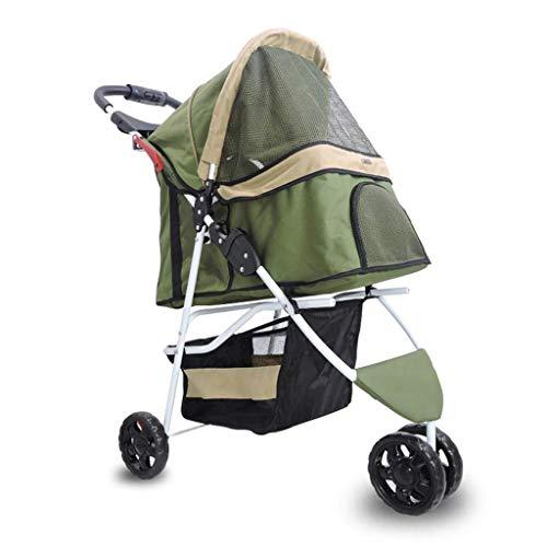 FFCVTDXIA Pet Folding Bed Camping Carry Bag Pet Pey Stroller Dog Carrito Doblado Treswheeled Pet Coche Mascota Cochecito Cochecito de Perro Suministros de excursiones de la luz Mochila (Color: Rojo)
