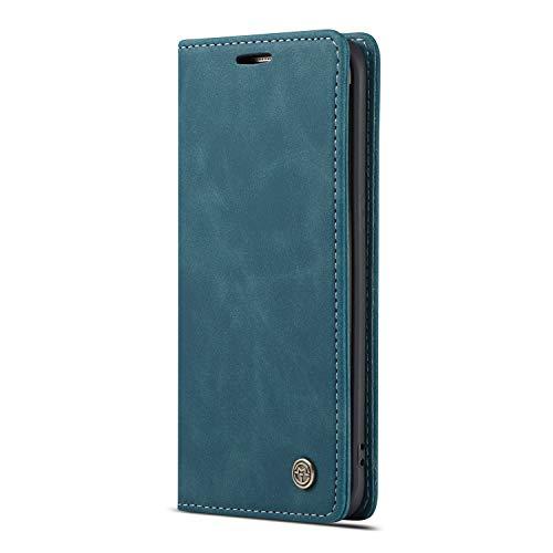 JMstore Funda Compatible con Samsung Galaxy S7 Edge, Magnético Carcasa Funda Móvil Billetera Cuero Funda con Tapa Libro Caso Soporte Plegable (Azul)