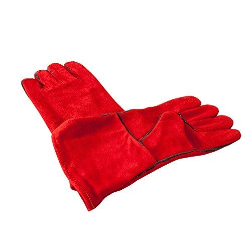 Big Barbecue 1 Paire de gants en cuir de la chaleur Gants en cuir Taille universelle 9–10